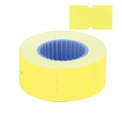 этикет-лента 21,5*12(800) желтая прямая